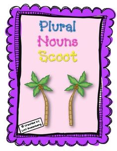 $2.50 - Plural Nouns Scoot Game