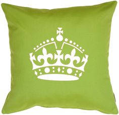 Royal Crown Keep Calm and Carry ON Designer Pattern Wall Stencil