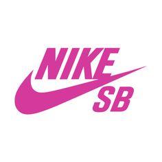Fuschia Nike SB Logo | Nike SB Dunk Logos ❤ liked on Polyvore