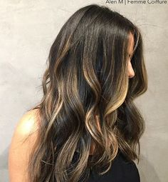Balayage done by Alen M Black Hair With Highlights, Colored Highlights, Best Salon, Hair Locks, Long Locks, Balayage Highlights, Hair Ideas, Hairstyle Ideas, Hairstyles