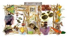 """Market Fresh"" by sylvia-cameojewels ❤ liked on Polyvore featuring Michael Aram and vintage"