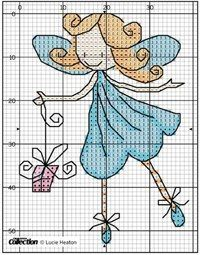 from Cross stitch collection 226 Cross Stitch Fairy, Xmas Cross Stitch, Cross Stitch Angels, Cross Stitch For Kids, Cross Stitch Cards, Cross Stitch Kits, Counted Cross Stitch Patterns, Cross Stitching, Cross Stitch Embroidery