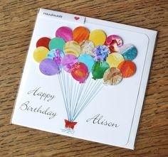 Handmade Personalised Birthday Card 3D Birthday by CardsbyGaynor