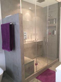 Ducha de obra Bathtub, Bathroom, Renovation, Master Bath, Showers, Houses, Home, Projects, Manualidades