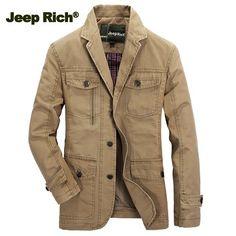 Только 3 130 руб. , купить Jeep Богатые Мужчины Хлопок Blazer Solid Color Leisure Бизнес-пальто куртки на Banggood.com. Купить модные Пальто онлайн.