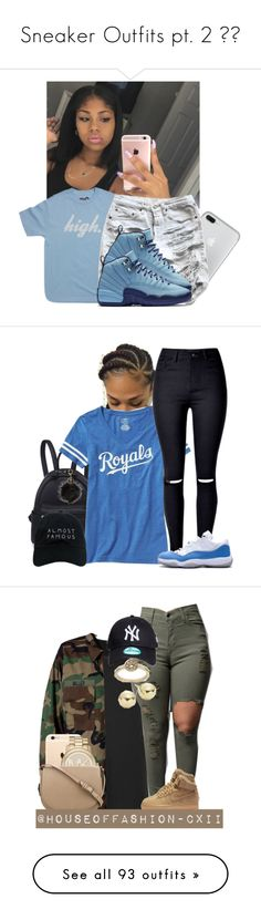 """""""Sneaker Outfits pt. 2 """" by kamaridenise ❤ liked on Polyvore featuring Old Navy, Nasaseasons, Avenue, Boohoo, Modström, NIKE, Michael Kors, CÉLINE, Topshop and Lord & Taylor"""