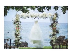 Our beautiful Wedding Arch at Kukahiko Estate by Bliss Wedding Design & Spectacular Events