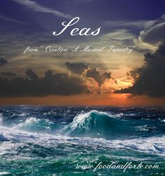 """""""Seas"""" is one of the songs on my """"Creation: A Musical Tapestry"""" album. It musically depicts the creation of the seas, with the storm, followed by peace."""