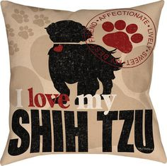 Shih Tzu Dog Throw Pillow available at www.DogLoverStore.com