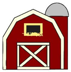 farmer clip art free barn clip art image red and white barn rh pinterest com barn owl clipart clip art barnyard animals