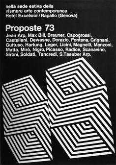 Progetto grafico di Franco Grignani, (1908-1999).