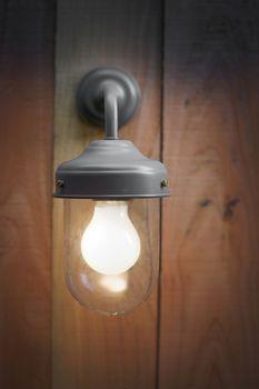 Barn Lamp in Charcoal