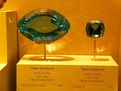 Gigantic topaz at the Smithsonian Museum of Natural History, Washington, DC