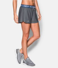Under Armour UA Women/'s Play Up 2.0 Shorts Small New - Grey//Pink S