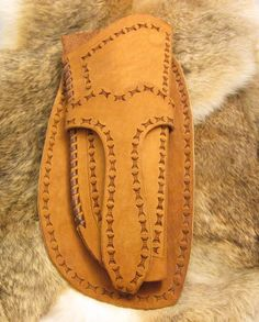 Handcrafted Brown Suede Leather Gun Tooled Holster .44 Colt Frontier or Equal To #Handmade