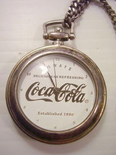 If you are interested in finding a luxurious watch, then the Web is undoubtedly a great location to start browsing. Respectable companies have actually begun to use their services online, offering a few of the most famous and distinct watches for enthusiastic purchasers. #pocketwatch Vintage Coca Cola, Coca Cola Ad, Always Coca Cola, World Of Coca Cola, Coca Cola Decor, Diet Coke, Leather Pouch, Or Antique, Silver Plate