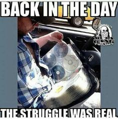 We all had a CD holder ..
