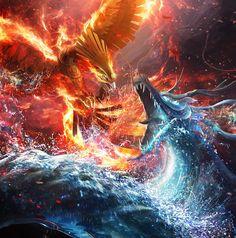 Blue corp-Dragon vs Red corp-fenix