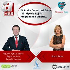 Yarın Saat 9.20 de Dr. Aybars Akkor A Haber´de Burcu Sarıca ile Türkiye´de Sağlık Programına konuk olacaktır. Angelica Haber Burcu Sarıca