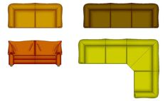 Cad Symbols Colour Furniture Chairs Office