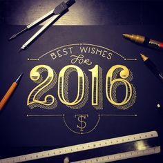 Wishing you all the best for 2016! Let's make it awesome!  #handlettering #lettering #typematters #typography #typographyinspired #type #thedailytype #typedesign #typeverything #goodtype #calligritype #typetopia #typeworship #typespot #thedesigntip #typegang #artoftype #TY_CA #ligaturecollective #graphicdesign #newyear #2016 #gold #goldonblack by typo_steve