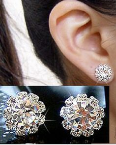 Earring Component Quality Flower Directly From China Earrings Plaza New York Suppliers Fashion Spherical Crystal Studs