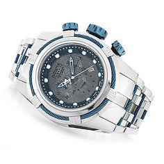 634-906 - Invicta Reserve 52mm Bolt Zeus Meteorite Dial Swiss Made Quartz Chronograph Bracelet Watch
