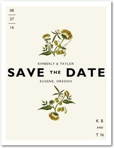 Botanical Beauty - Save the Date Postcards - love for Bartrams wedding... but doesn't have a matching Invite :/
