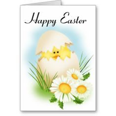 Easter Chick in Egg Greeting Card ............ http://www.zazzle.com/easter_chick_in_egg-137273642632502435?rf=238631258595245556