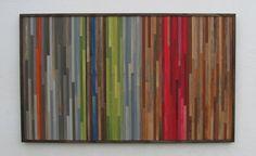 Abstrakte Gemälde auf Holz  WandKunst Skulptur von ModernRusticArt, $1000.00