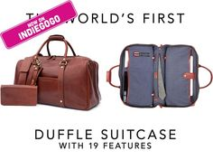 The World's First Duffle Suitcase: Premium Bag | 19 Features