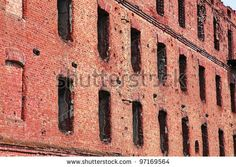 Old Abandoned Brick Building Close Up
