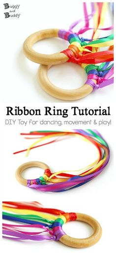 DIY Ribbon Ring Tutorial: Homemade toy for kids- great for dancing, movement, music and creative play! DIY Ribbon Ring Tutorial: Homemade toy for kids- great for dancing, movement, music and creative play! Toddler Dance, Toddler Play, Toddler Preschool, Kids Crafts, Toddler Crafts, Preschool Crafts, Preschool Music, Toddlers And Preschoolers, Music For Toddlers
