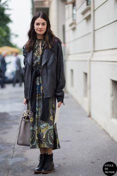 Leila Yavari Street Style Street Fashion Streetsnaps by STYLEDUMONDE Street Style Fashion Blog