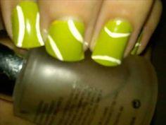 Tennis ball nail design