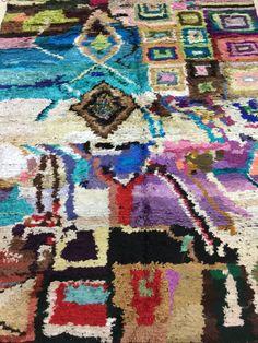 Vintage Moroccan Azilal Rug fibre de cactus by GipsyDesign on Etsy
