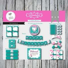 Hello Kitty Birthday Themed Diy Party Printable Kit