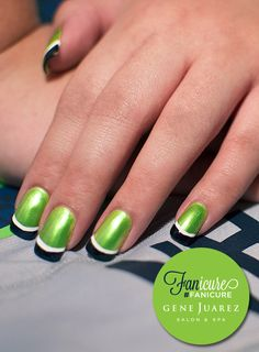 The Fanicure - Gene Juarez Seattle Seahawk Nails! #fanicure #gjfanicure