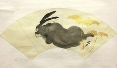 Shunkyo Yamamoto 山元春挙 (1871-1933), Rabbit and Grasses.
