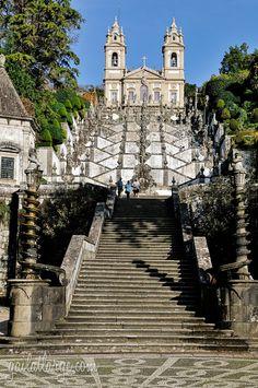Bom Jesus do Monte overlooking Braga (Tenões, Portugal)