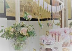 Candy Bar, flowers Christening, Wreaths, Candy, Bar, Flowers, Home Decor, Decoration Home, Door Wreaths, Room Decor