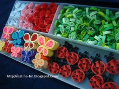 I've just finished making another batch of quilled items for my tool box yesterday. Paper Quilling Earrings, Origami And Quilling, Quilling Paper Craft, Quilling Flowers, Paper Crafts, Paper Art, Diy Crafts, Paper Quilling Tutorial, Paper Quilling Designs
