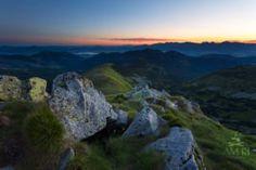 Nízke Tatry, v pozadí silueta Západných Tatier