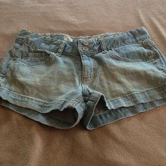 Faded jean shorts Short shorts Shorts Jean Shorts
