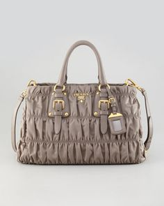 Tessuto Gaufre Tote Bag by Prada at Neiman Marcus.