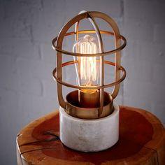 Mini Industrial Cage Lamp | West Elm