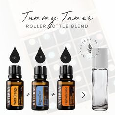 Tummy Tamer Roller Blend with Essential Oils #essentialoils #doterraessentialoils #naturalparenting