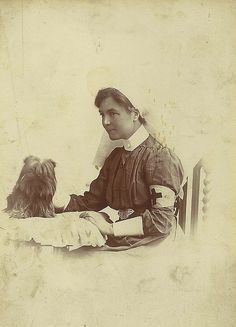 Unidentified Nurse and her dog