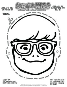 Free Printable Scooby Doo Velma Mask