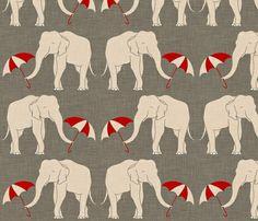 Holli Zollinger's Elephant fabric print